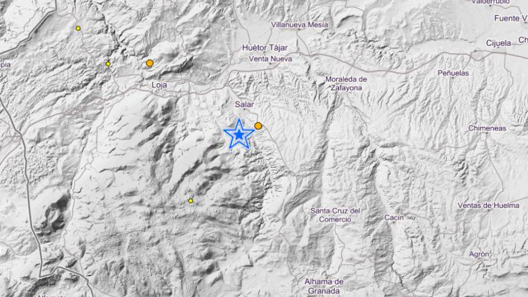 El terremoto de este jueves se ha generado al sur del Salar, Granada