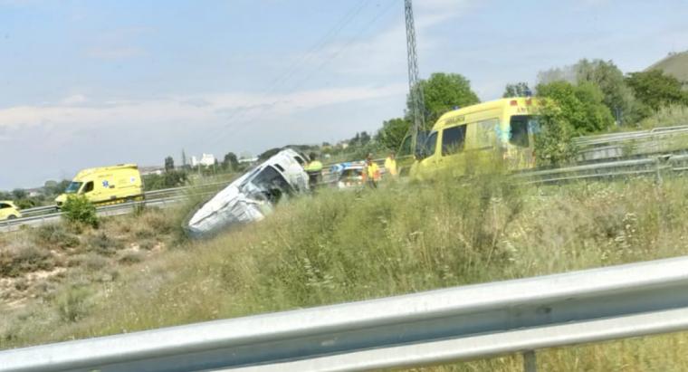 Accident a la C-13, a l'altura d'Alcoletge.