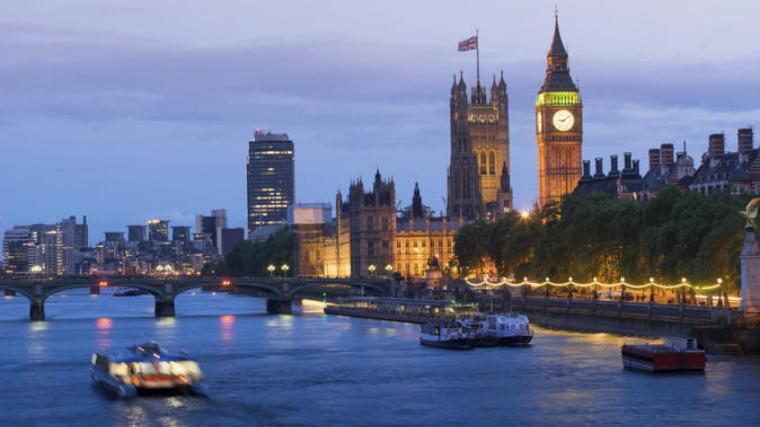 Imatge del Tàmsi al seu pas per Londres, un dels rius analitzats