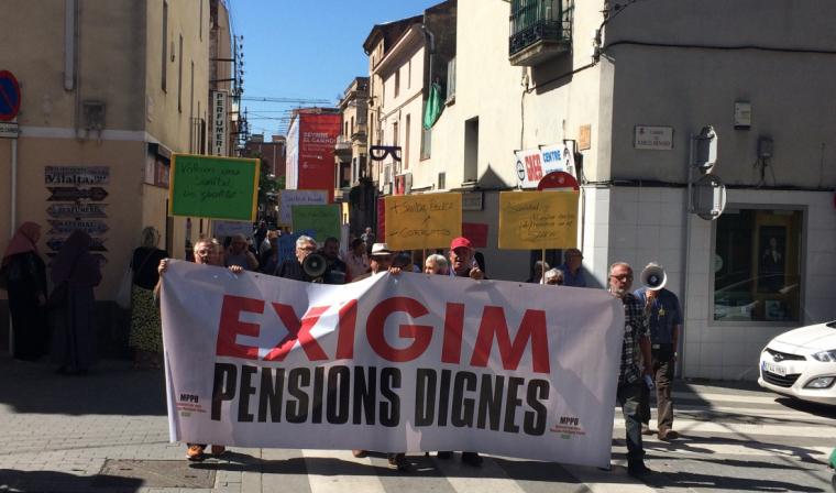 Manifestació del MPD i Rubí Sanitat