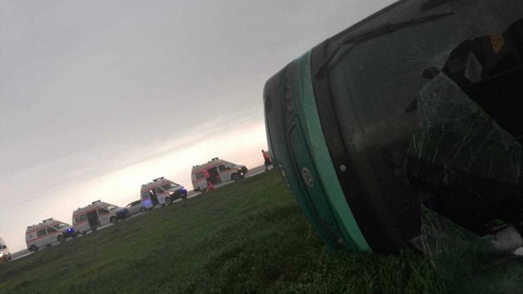 Un autobús va ser la víctima més important del tornado, ja que hi viatjaven 39 persones