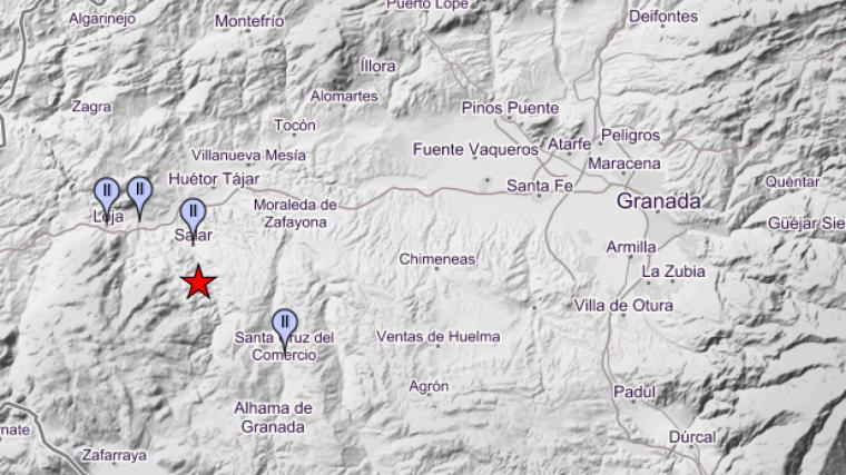 Varios habitantes del oeste de Granada han sentido el pequeño terremoto esta madrugada