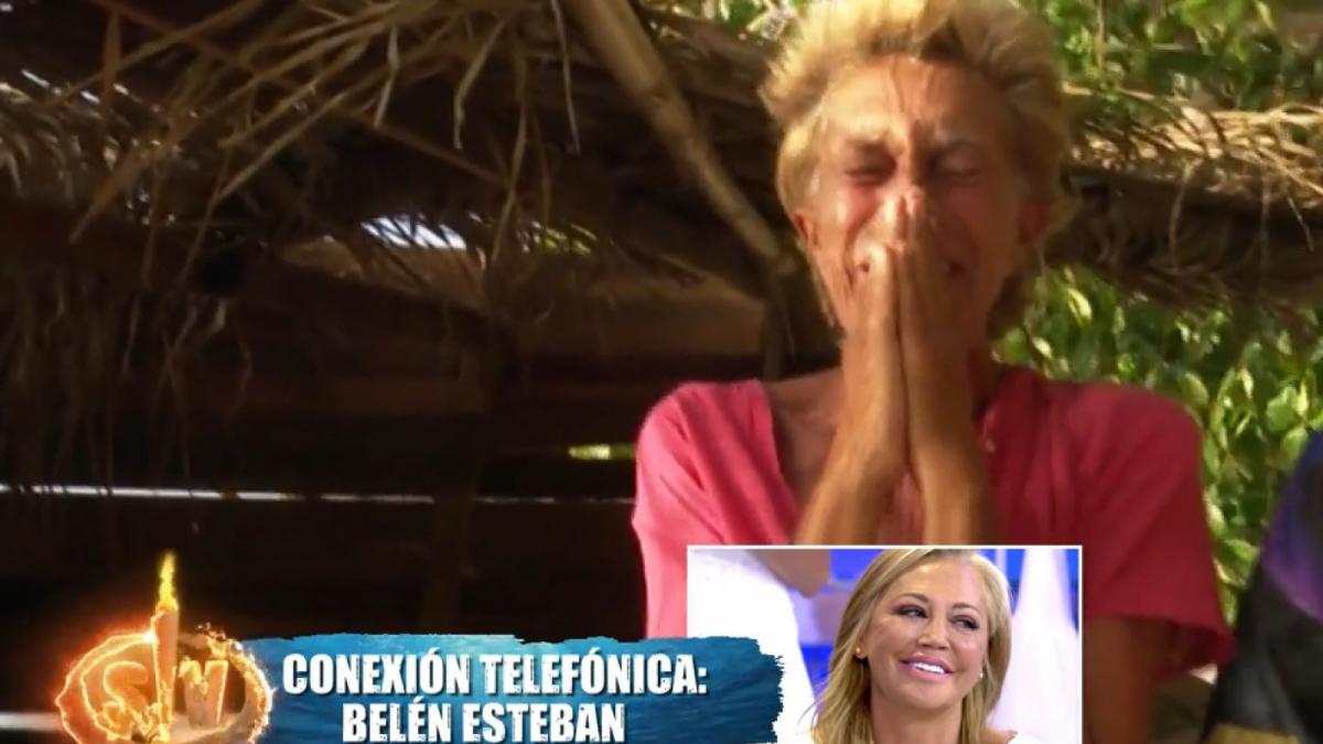 Chelo García Cortés se emocionó al escuchar a Belén Esteban