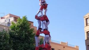 3de9 amb folre carregat de la Colla Joves Xiquets de Valls a la diada del Pati