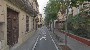 El carrer de Gràcia de Sabadell, on han tingut lloc els fets aquesta matinada