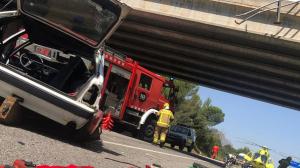 El cotxe ha caigut del pont per causes encara desconegudes