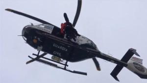 El montañero ha podido ser rescatado por un helicóptero