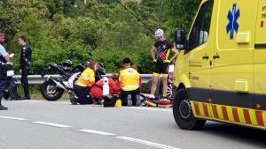 El motorista ha ingressat a l'hospital en estat crític