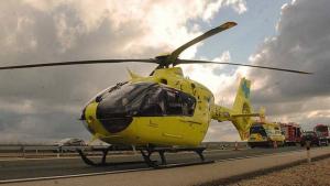 El Sacyl envió un helicóptero al lugar