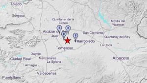 El temblor ha sido apenas perceptible en cuatro poblaciones en esta zona