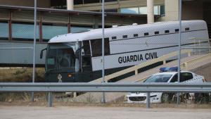 Autobús en el que es traslladen els presos a Catalunya