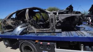 El vehicle va quedar totalment calcinat després de l'accident