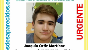 El xiquet Joaquín Ortiz Martínez, desaparegut diumenge passat en Elx