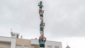 Els Castellers de Sant Pere i Sant Pau han estrenat el pilar de 6 a Olesa de Montserrat