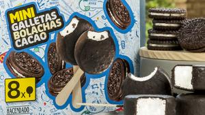 Els gelats 'Mini Bombón' amb sabor a galeta i cacau