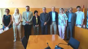Els nou regidors d'ERC a Torredembarra, que donen la majoria absoluta als republicans.