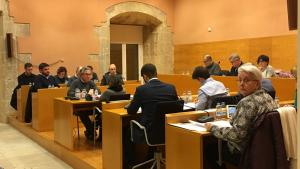 Els regidors, durant el transcurs de la sessió plenària.