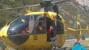 En l'accident hi han treballat els GRAE i un helicòpter.