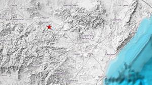 Epicentro del terremoto de 3,4 percibido al nordeste de Almería esta madrugada de martes