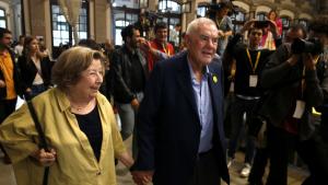 Ernest Maragall i la seva dona Pepa de Gispert