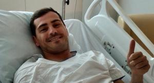 Iker Casillas segueix amb regularitat les seves revisions mèdiques