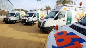 Imagen de archivo de ambulancias del EPES.