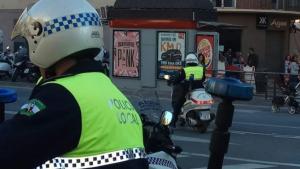 Imagen de archivo de dos agentes de la Policía Local de Málaga.
