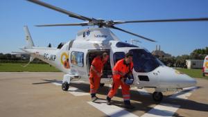 Imagen de archivo de un helicóptero de asistencia de Andalucía