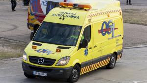 Imagen de archivo de una ambulancia del 061 en Murcia.