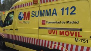 Imagen de archivo de una ambulancia del Summa 112 de Madrid