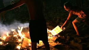 imagen de archivo de una hoguera de San Juan