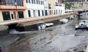 Imagen de los efectos de una Rissaga anterior en Ciutadella