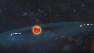 Imagen de los nuevos planetas orbitando alrededor de la estrella Teegarden