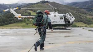 Imagen de un helicóptero del GREIM de la Guardia Civil.