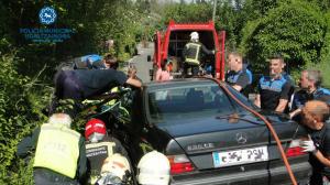 Imagen del accidente que ha ocasionado graves heridas a la joven