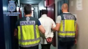 Juanín ingresando en prisión
