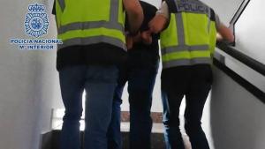 Imagen del detenido en Madrid