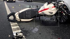 Imatge d'arxiu d'un accident de moto