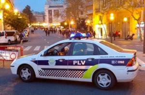 Imatge d'arxiu d'un cotxe de la Policia Local de València