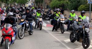 Imatge d'arxiu d'una trobada de motards a les Borges