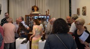 Imatge de la inauguració de l'exposició de Pep Borràs