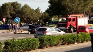 Imatge de l'accident que va tenir lloc a l'entrada de Miami Platja, N-340