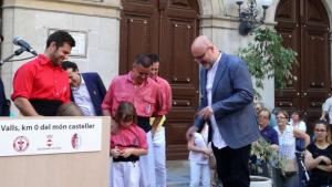 Imatge de l'acte de l'ambaixador dels Xiquets de Valls de l'any passat