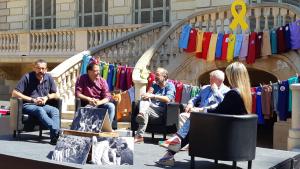 Imatge de l'acte dels 30 anys de la Coordinadora de Colles Castelleres de Catalunya celebrat dissabte a Barcelona