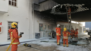 Imatge de les tasques del bombers