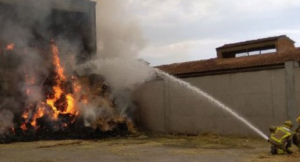 Imatge de l'incendi a Linyola
