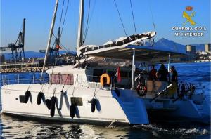 Imatge del catamarà rescatat