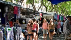 Imatge del mercat ambulant de Tarragona.