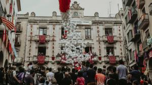Inici de la Festa Major de Sant Joan a la plaça del Blat de Valls.