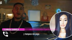 Omar Montes y la bailarina de su videoclip